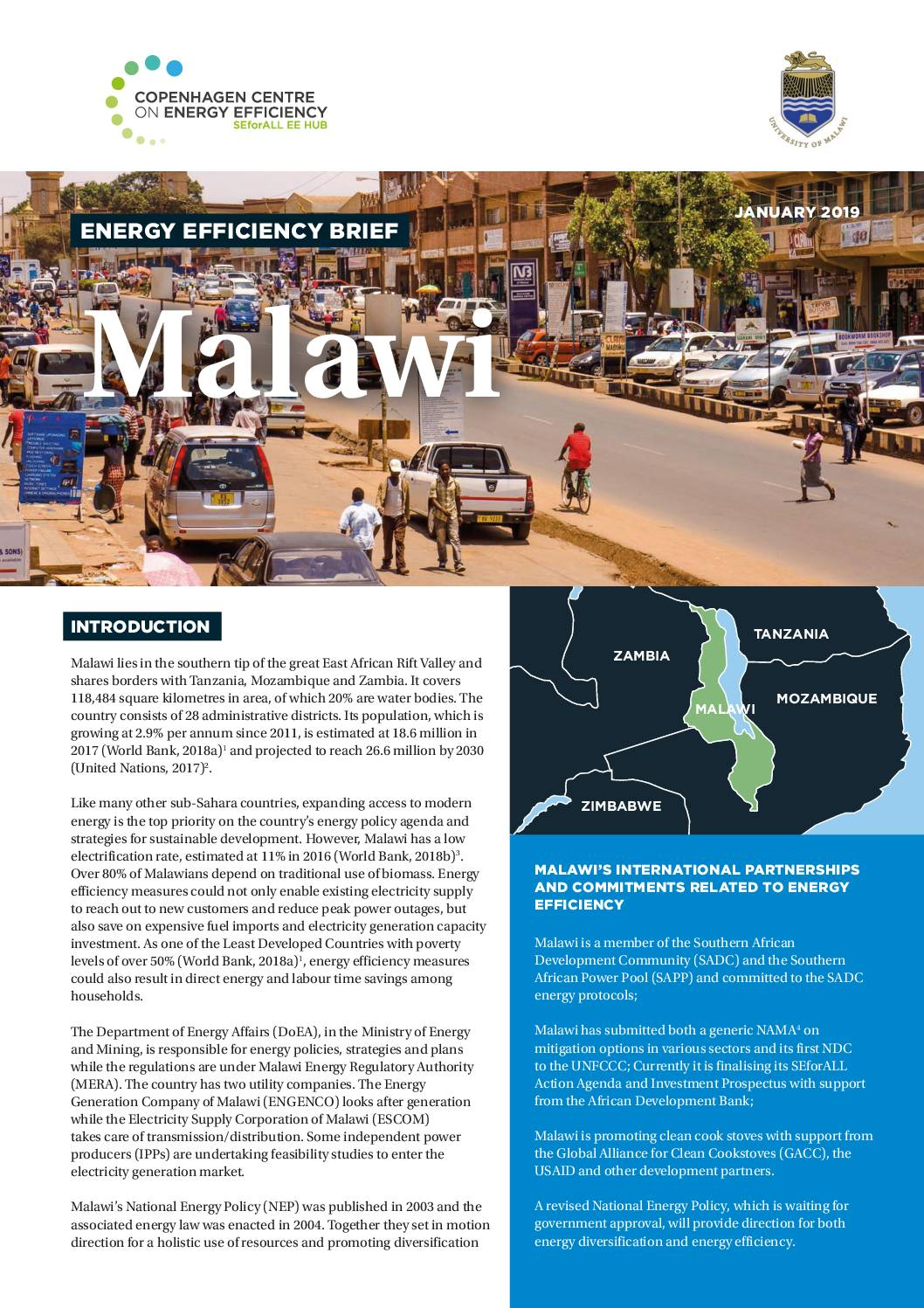 Energy Efficiency Brief, Malawi