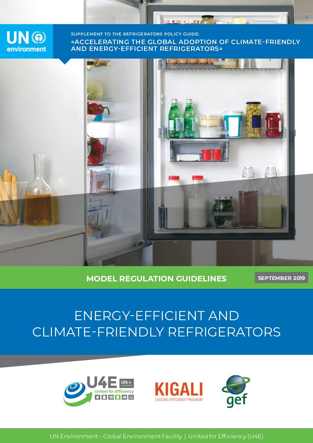 Model Regulation Guidelines For Energy-efficient And Climate-friendly Refrigerating Appliances